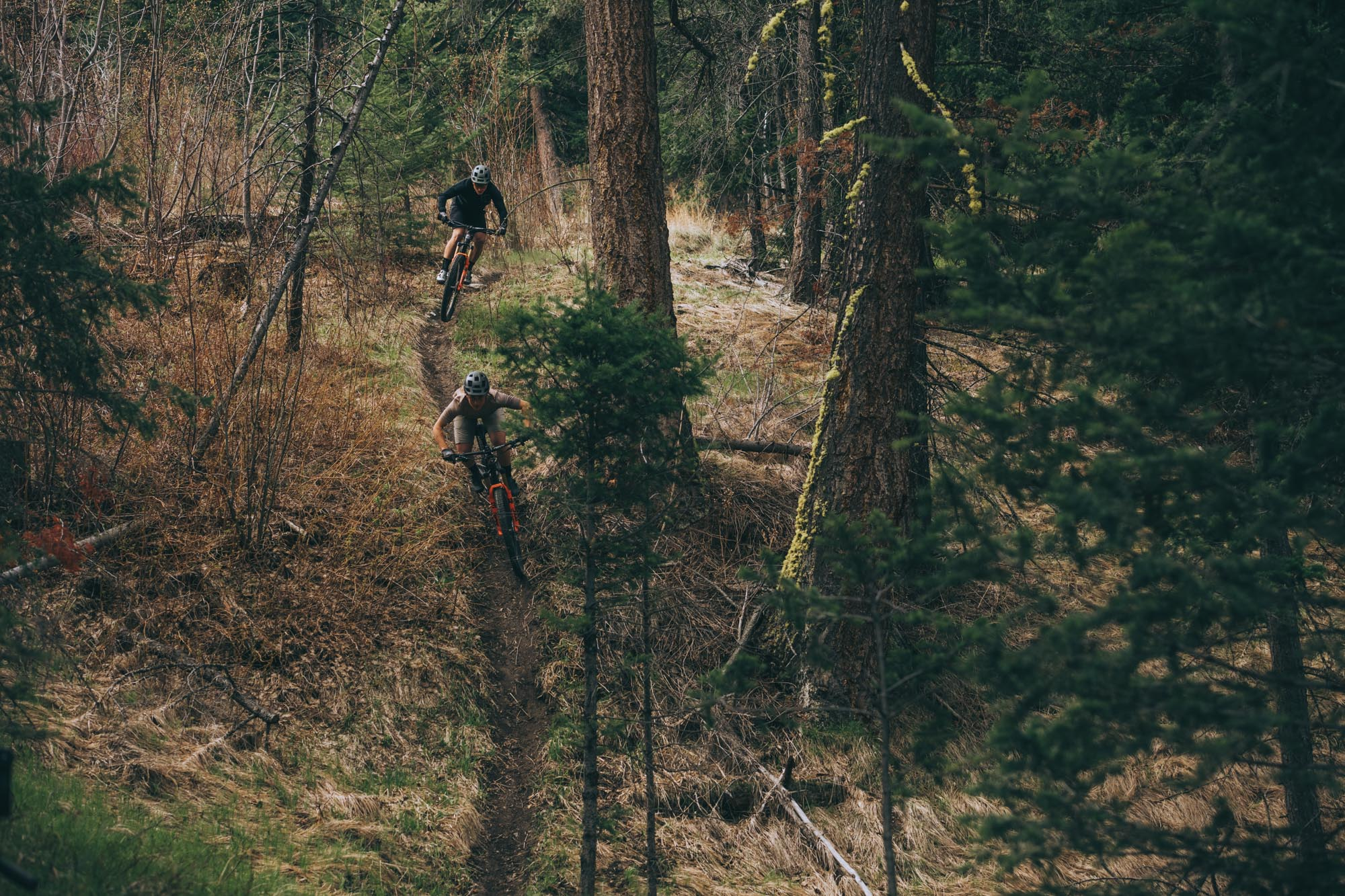 Andreane Lanthier Nadeau and Remi Gauvin ride the Element in British Columbia, Canada