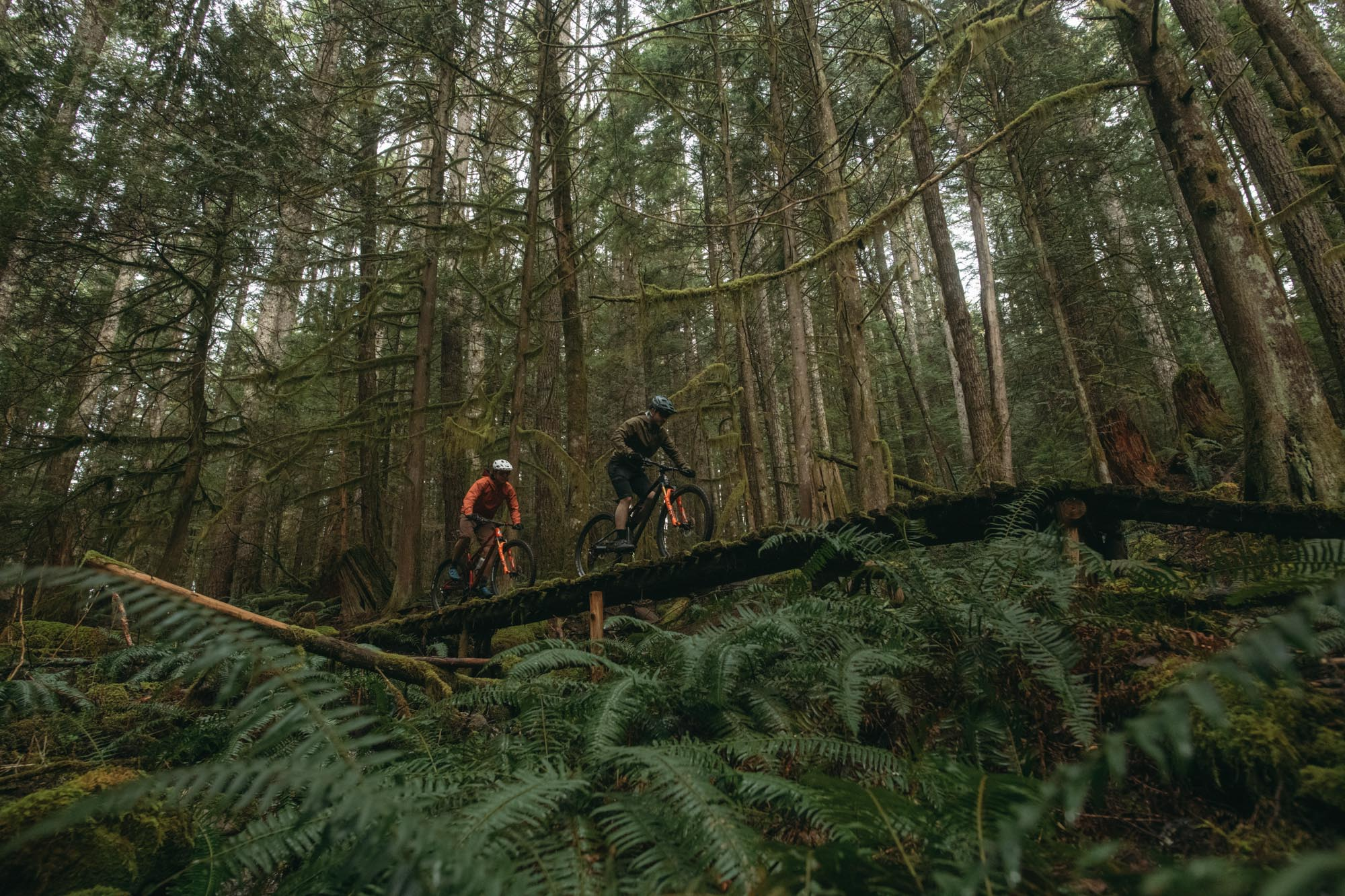 Felix Burke and Jesse Melamed ride the Element in Squamish, BC.