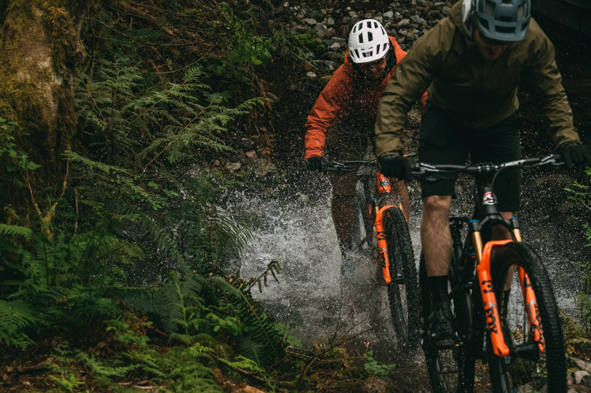 Jesse Melamed and Felix Burke ride the Element in Squamish, BC.
