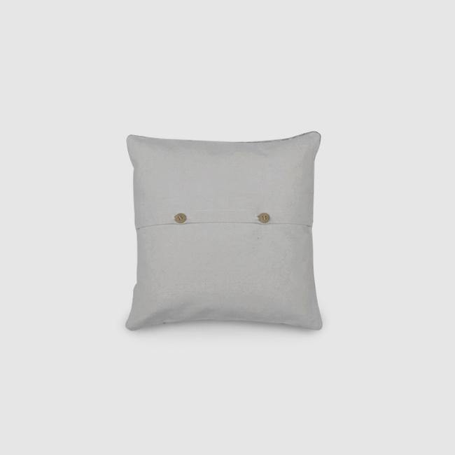 Poppy - Chain Stitch Embroidered Cushion Cover Double White