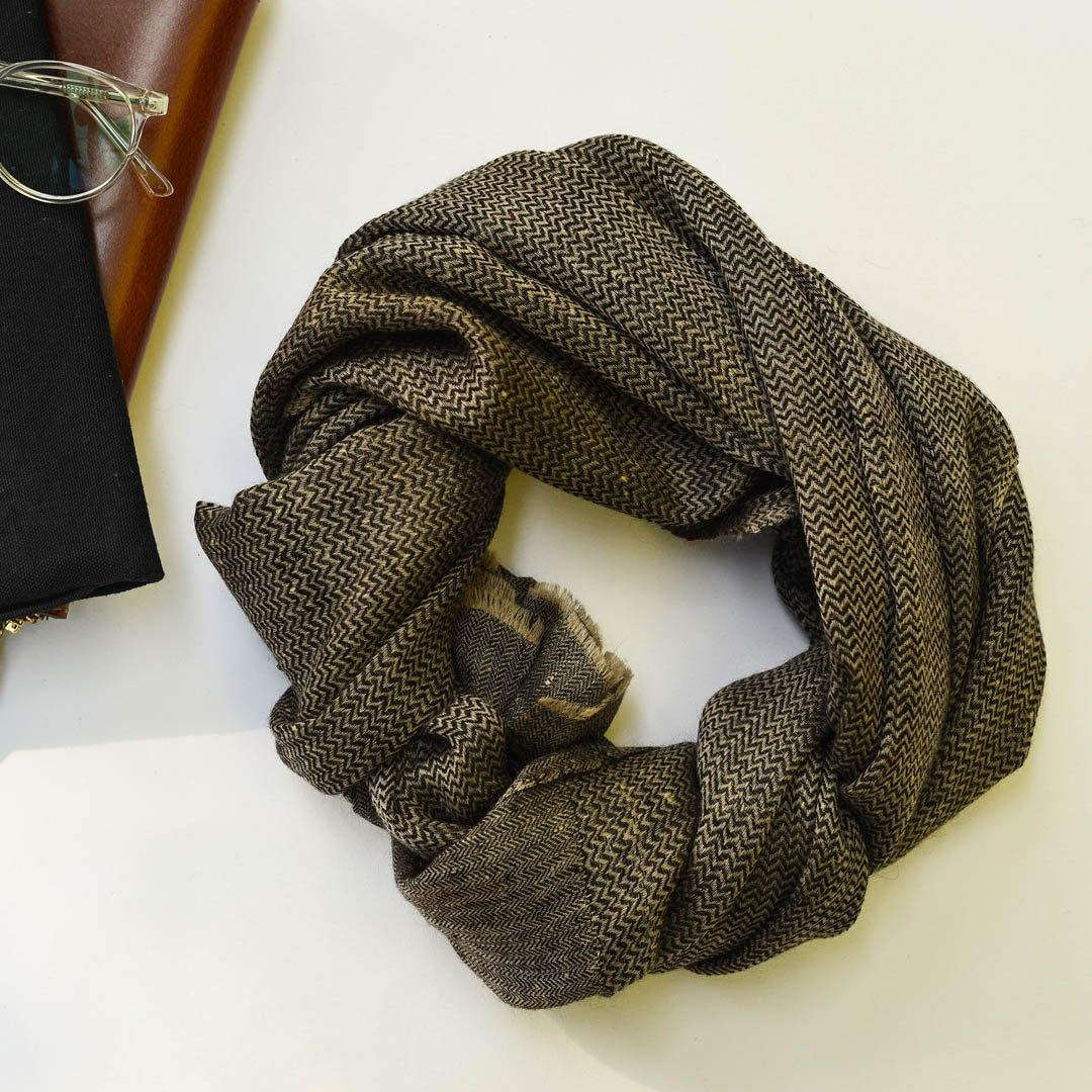 Black Natural Classic Pure Handwoven Pashmina Stole