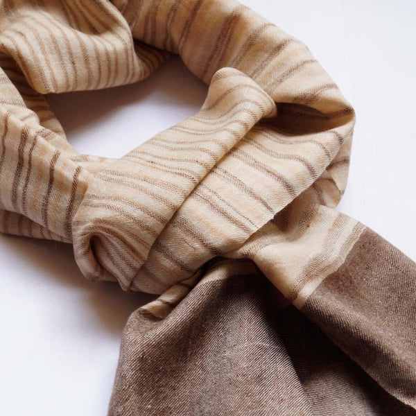 Walnut Pashmina Scarf For Men - Zaina by CtoK