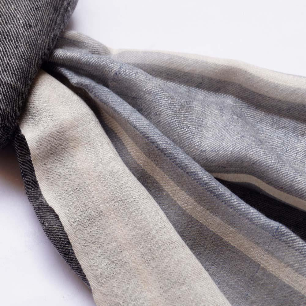 Handsome Grey Men's Pashmina Scarf