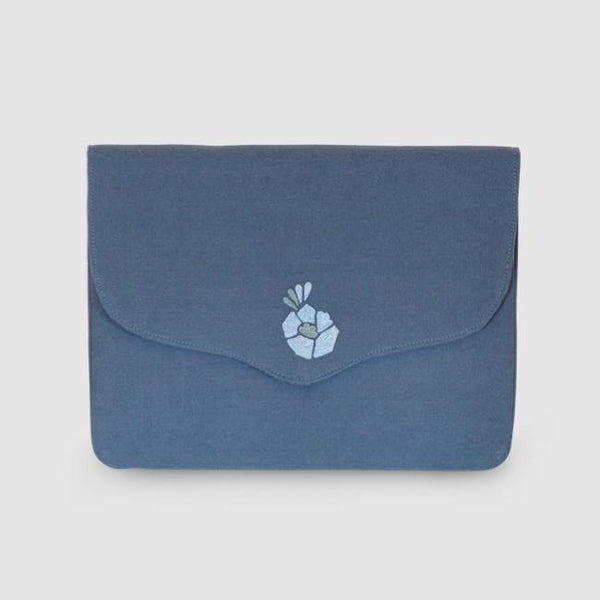 Corsage - Aari Embroidered Laptop Sleeve Blue - Zaina by CtoK