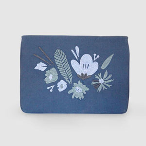 Open image in slideshow, Bouquet - Aari Embroidered Laptop Sleeve Blue