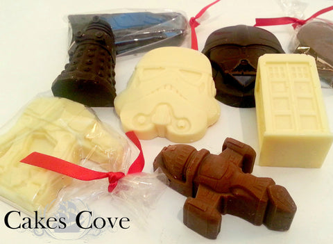 Geeky Chocolates, Custom Order Only, Cakes Cove - Cakes Cove, cakes, treats, cookies, sweets, traditional wedding cakes, occasion cakes, birthday cakes, cupcakes, chocolates, corprate events, events, weddings, parties, special occasions