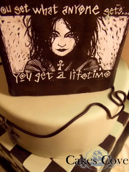 Death, from Sandman Cake, Custom Order Only, Cakes Cove - Cakes Cove, cakes, treats, cookies, sweets, traditional wedding cakes, occasion cakes, birthday cakes, cupcakes, chocolates, corprate events, events, weddings, parties, special occasions