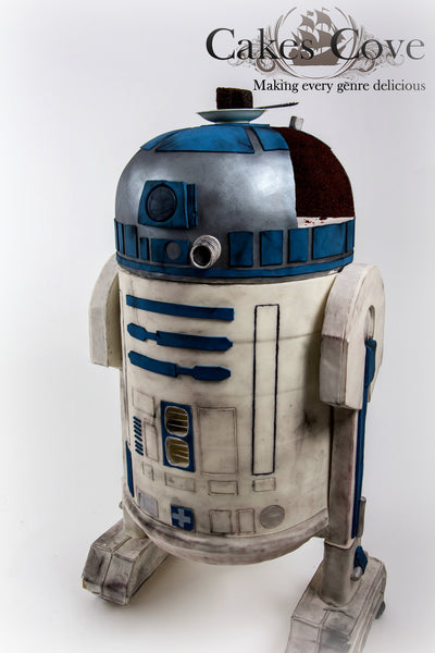 Life-Sized R2-D2 Cake, Custom Order Only, Cakes Cove - Cakes Cove, cakes, treats, cookies, sweets, traditional wedding cakes, occasion cakes, birthday cakes, cupcakes, chocolates, corprate events, events, weddings, parties, special occasions