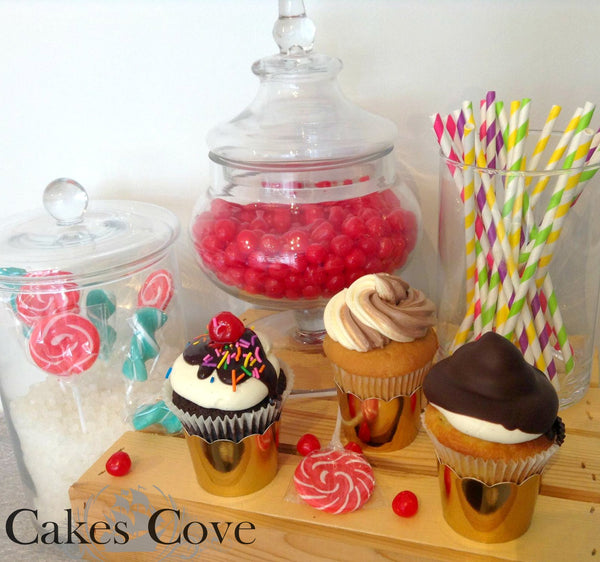 Ice Cream Cupcakes, Custom Order Only, Cakes Cove - Cakes Cove, cakes, treats, cookies, sweets, traditional wedding cakes, occasion cakes, birthday cakes, cupcakes, chocolates, corprate events, events, weddings, parties, special occasions