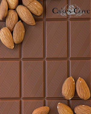Milk Almond Chocolate Bar, Chocolate Bars - Cakes Cove