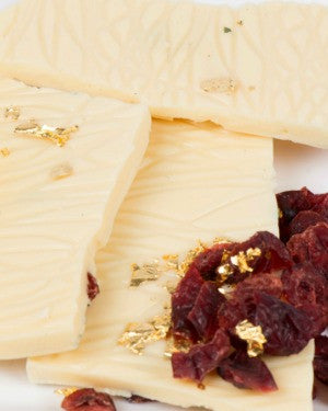 White Chocolate Cranberry Gold Bark