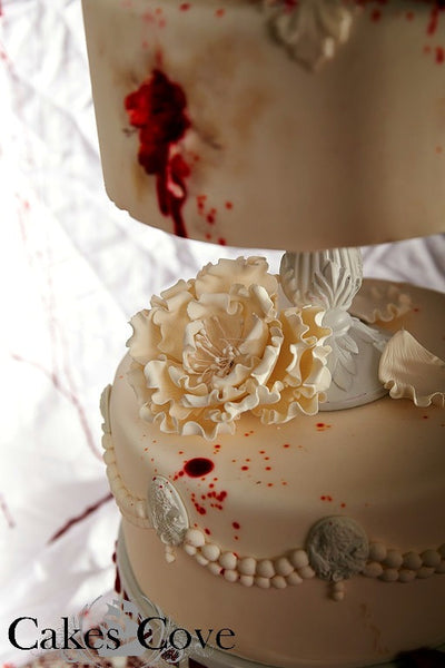 Death Do Us Start, Custom Order Only, Cakes Cove - Cakes Cove, cakes, treats, cookies, sweets, traditional wedding cakes, occasion cakes, birthday cakes, cupcakes, chocolates, corprate events, events, weddings, parties, special occasions
