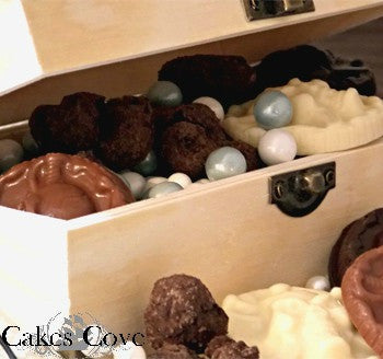 Pirate Chest, Chocolate Sundries, Cakes Cove - Cakes Cove, cakes, treats, cookies, sweets, traditional wedding cakes, occasion cakes, birthday cakes, cupcakes, chocolates, corprate events, events, weddings, parties, special occasions