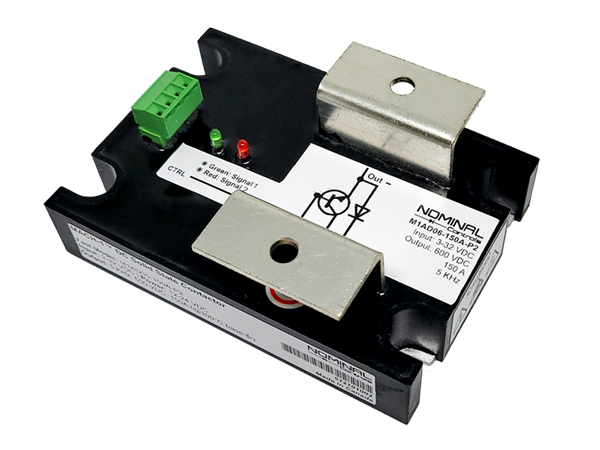The M1 DC solid state contactor is used for switching medium powered devices.