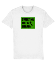 Load image into Gallery viewer, SWEATING LIKE A LIZARD - T-SHIRT - WHITE