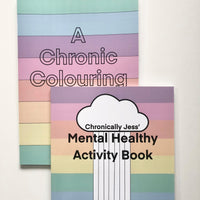 Activity Book Bundle - Chronic Illness related colouring book and mental health related activity book
