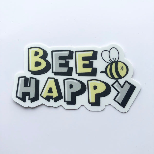 Bee Happy Affirmations Die Cut Sticker - Anxiety