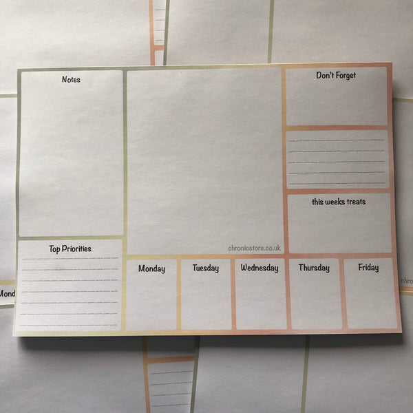 The Weekly Planner Multi-Coloured
