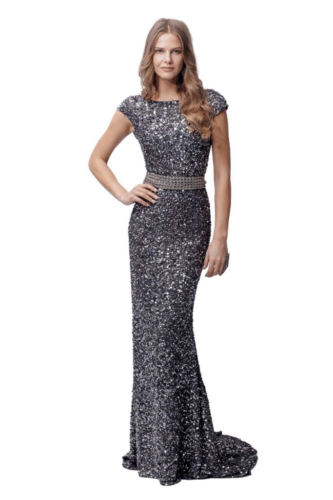 Embellished Evening Gown