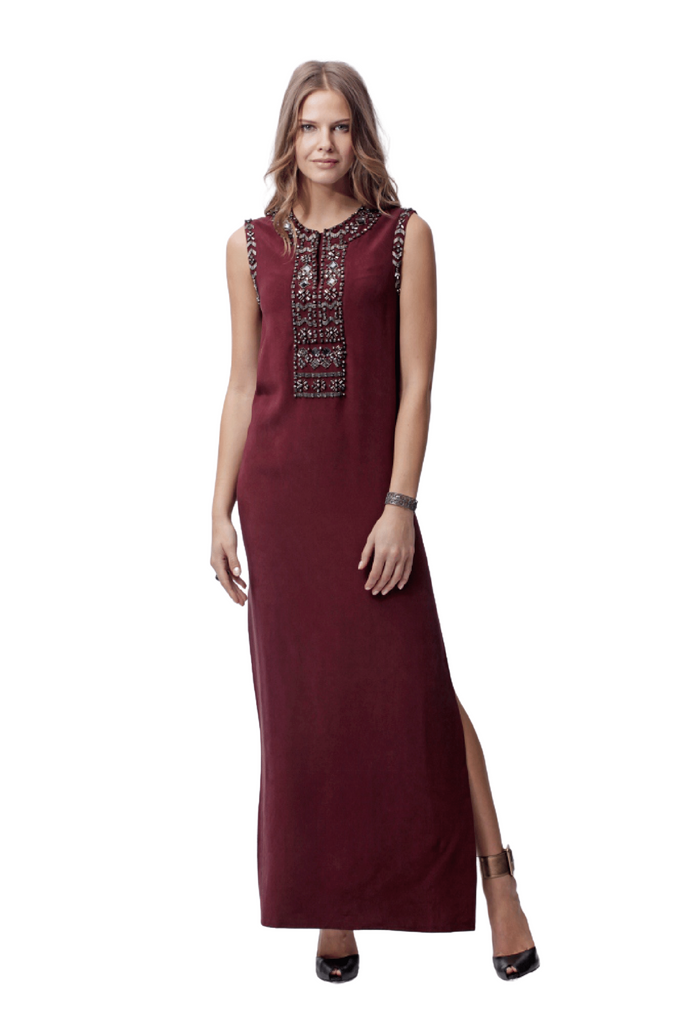 Round Neck Embellished Gown