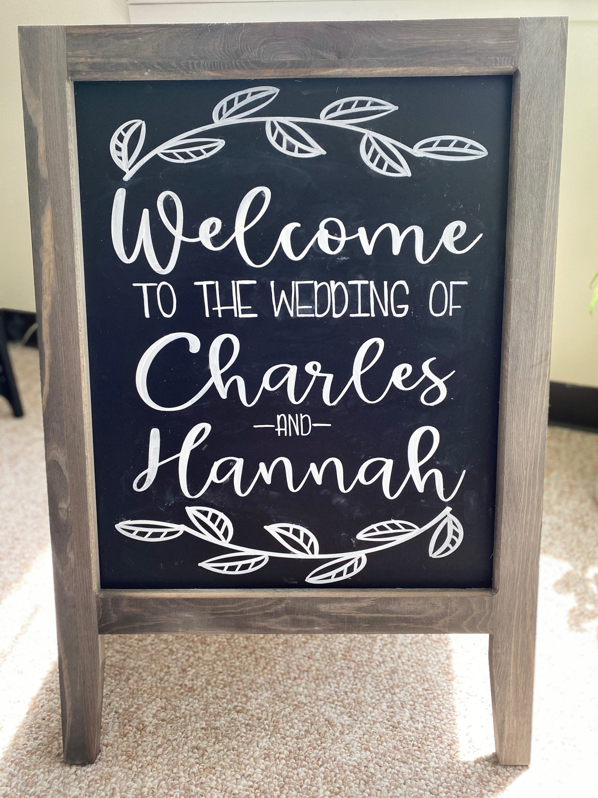 Hand-Lettered Sandwich Board Sign