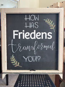 Large Hand-Lettered Chalkboard Sign