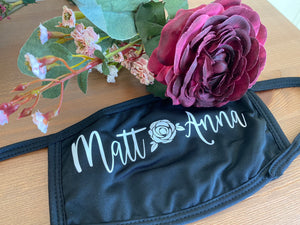 Personalized Wedding Face Masks