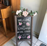 Load image into Gallery viewer, Sandwich Board Hand-Lettered Chalkboard Sign