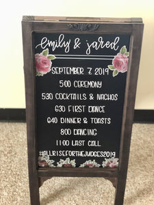 Sandwich Board Hand-Lettered Chalkboard Sign