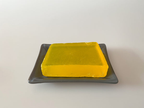 Fused Glass Grey Soap Dish