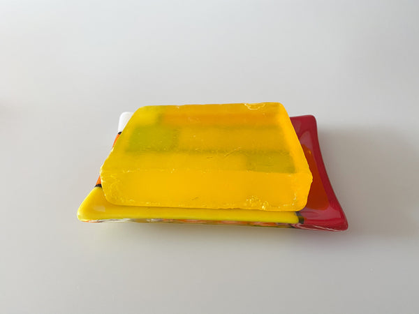 Fused Glass Soap Dish different colours