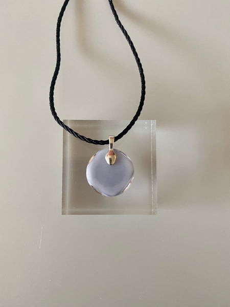 Fused Glass Lilac Pendant