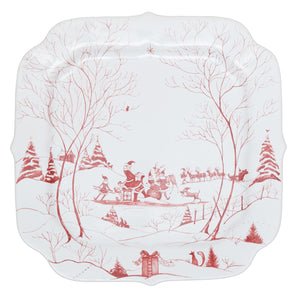 Juliska - Country Estate Winter Frolic Ruby - Santa's Naughty & Nice List Cookie Tray