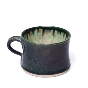 AE Ceramics - Round Series - Short Mug in Mint & Charcoal
