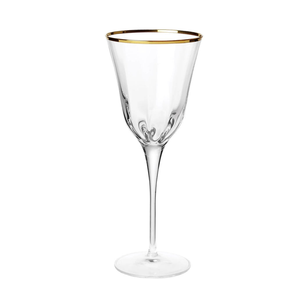 Vietri - Optical Gold - Wine Glass