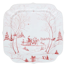 Load image into Gallery viewer, Juliska - Country Estate Winter Frolic Ruby - Santa's Naughty & Nice List Cookie Tray