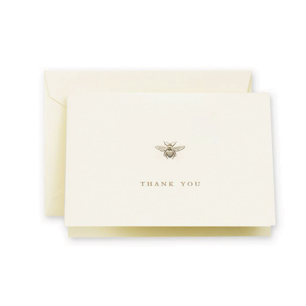 Crane & Co. - Engraved Bumble Bee Thank You - Boxed Note Cards