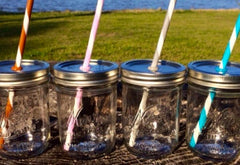 BALL Mason Jar (wide mouth) with 2 drink lids 16oz |美國 BALL 玻璃瓶(寬瓶口)連兩個蓋 16oz
