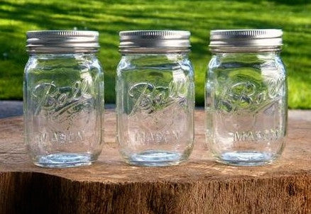BALL Mason Jar (regular mouth) with 2 drink lids 16oz |美國 BALL 玻璃瓶(普通瓶口)連兩個蓋 16oz