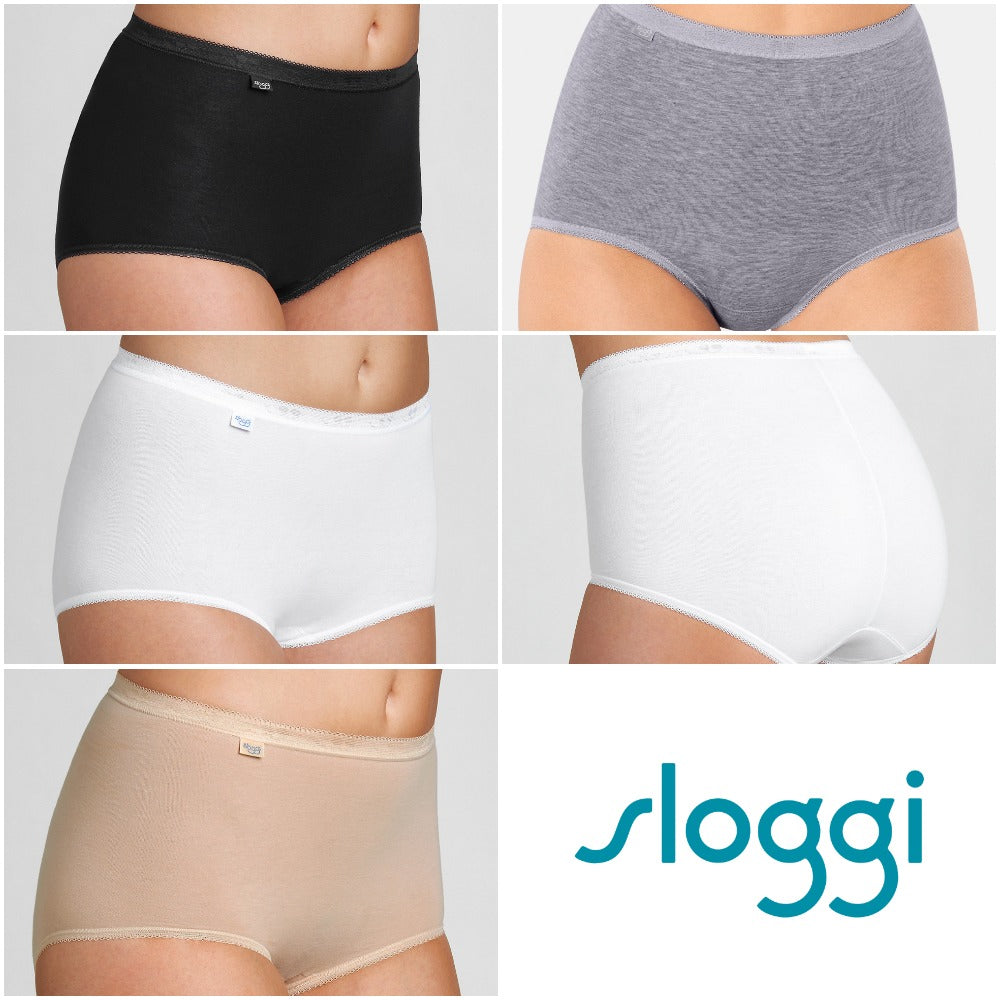Sloggi Control Maxi 2 Pack High Rise Shaping Briefs Size 14 Uk NEW Nude Skin