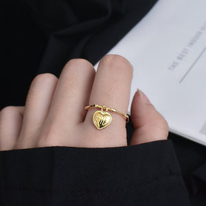 Chic Korean Temperament Female Love Letter M Ring