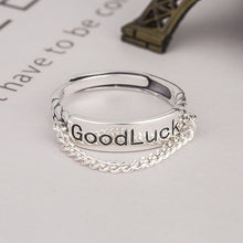Load image into Gallery viewer, Trendy Retro Sterling Silver Japanese and Korean Style Good Luck Ring