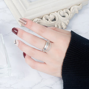 Trendy Retro Sterling Silver Japanese and Korean Style Good Luck Ring