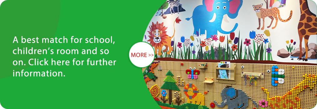 A best match for school, children's room and so on. Click here for further information.