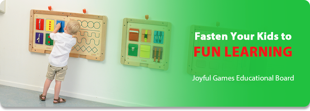 Fasten Your Kids to FUN LEARNING Joyful Games Educational Board