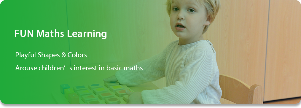 FUN Maths Learning Playful Shapes & Colors Arouse children's interest in basic maths