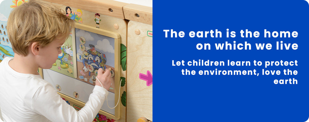 The earth is the home on which we live. Let children learn to protect the environment, love the earth