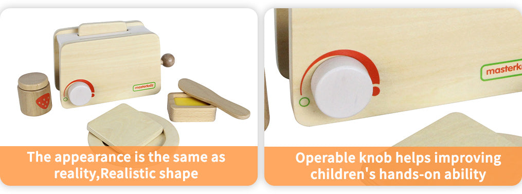 The appearance is the same as reality,Realistic shape Operable knob helps improving children's hands-on ability