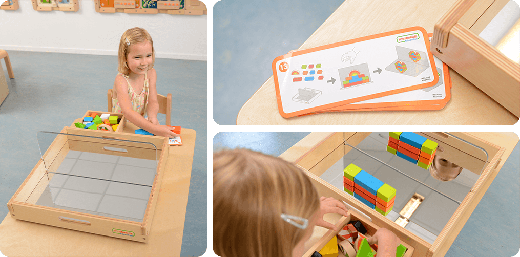 Can be used alone or with 24-piece Color Block Set and 6-piece Mirror Block and Dry Erase                     Block Set to meet different teaching needs