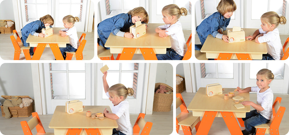 A great role playing toy promotes interaction, social skills and fine motor skills